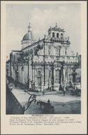 Collegiata Di San Sebastiano, Acireale, C.1910s - Grand Hôtel Des Bains Cartolina - Acireale