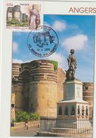 Carte-Maximum FRANCE N°Yvert 4326 (ANGERS - Château Et Roi René)  Obl Ill Philatélie Concordante (Ed Compa) - 2000-09
