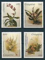 Guyana 1987 Orchideen, Orchids  Mi-Nr. 2004,07- 09 Postfrisch / MNH Kat-Wert 40,50 - Guyana (1966-...)
