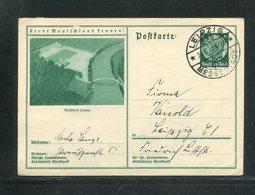 """Deutsches Reich / 1933 / Bildpostkarte > WALDBAD LEUNA, SSt. Leipzig """"Messestadt"""" (17289) - Ganzsachen"""