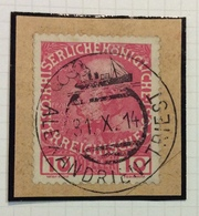 """NAVIGAZIONE   AUSTRIA  10 H.  Annullo  """" ALEXANDRIEN - TRIEST  31/10/14 """"  LINEA ALESSANDRIA TRIESTE - Marittimi"""