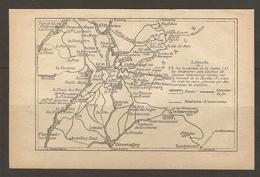 CARTE PLAN 1928 - St MAURICE GIROMAGNY BAERENKOPF LA VERRERIE LIELLIN PLANCHER LES MINES - Topographical Maps