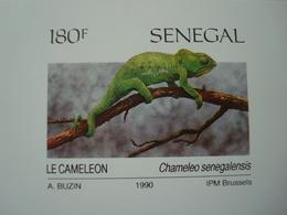 SENEGAL 1990 REPTILES BUZIN 4 LUXE PROOFS - Sénégal (1960-...)