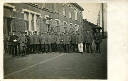 AK Waremme 1915 Bahnhof - Soldaten Vor Bahnhofsgebäude / Lüttich Landen Oreye Braives Huy - Waremme