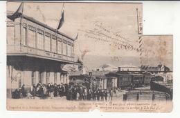 Chili - Valparaiso - Concepcion - Estacion Coronel - Timbre Découpé (vendue En L'état) - Chili