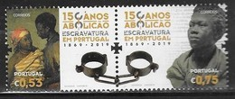 PORTUGAL, 2019, MNH,SLAVERY, ABOLITION OF SLAVERY,2v - History