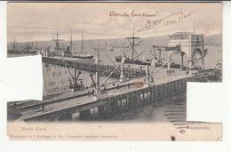 Chili - Valparaiso - Muelle Fiscal - Timbre Découpé (vendue En L'état) - Chili