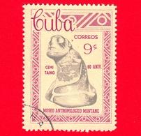 CUBA - Usato - 1963 - 60° Anniversario Del Museo Di Antropologia Montane - 9 - Cuba