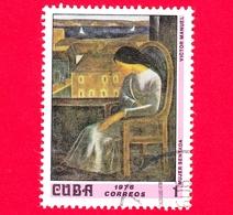 CUBA - Nuovo Obl. - 1976 - Museo Nazionale, L'Avana - Donna Seduta, Dipinto Di Victor Manuel - 1 - Nuovi