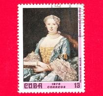 CUBA - Nuovo Obl. - 1976 - Museo Nazionale, L'Avana - Ritratto Di Donna, Dipinto Di Louis Michael Van Loo - 13 - Nuovi
