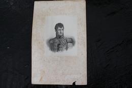 DH /Jérôme Bonaparte1,2, Est Né Le 15 Novembre 1784 à Ajaccio (Corse) Et Mort Le 24 Juin 1860 à Vilgénis / 16x24 Cm - Documents Historiques
