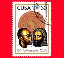 CUBA - Nuovo Obl. - 1978 - 15 Anni Dell'OUA (Organization Of African Unity) - 30 P. Aerea - Posta Aerea
