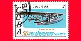 CUBA - Nuovo Obl. - 1979 - 50° Anniversario Delle Linee Aeree Cubane - Aereo - 2 - Nuovi