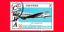 CUBA - Nuovo Obl. - 1979 - 50° Anniversario Delle Linee Aeree Cubane - Aereo - 3 - Nuovi