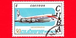 CUBA - Nuovo Obl. - 1979 - 50° Anniversario Delle Linee Aeree Cubane - Aereo - 4 - Nuovi