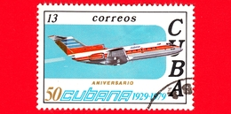 CUBA - Nuovo Obl. - 1979 - 50° Anniversario Delle Linee Aeree Cubane - Aereo - 13 - Nuovi