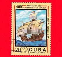 CUBA - Nuovo Obl. - 1982 - 490 Anni Della Scoperta Dell'America - Veliero 'Santa Maria' - 20 - Cuba