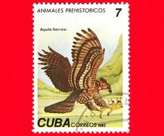 CUBA - Nuovo Obl. - 1982 - Animali Preistorici - Aquila Borrasi - Eagle - 7 - Cuba