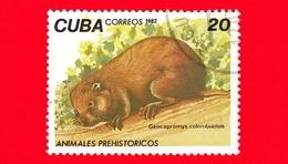 CUBA - Nuovo Obl. - 1982 - Animali Preistorici - Geocapromys Colombianus - Hutia - 20 - Cuba