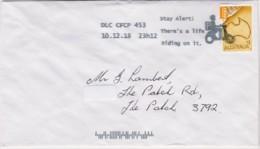Australia 2018 Concession Stamp On Domestic Letter - Stay Alert! - 2010-... Elizabeth II