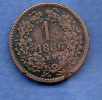 Hongrie - 1 Krajczar 1886 - Km # 458    état  B+ - Hungary