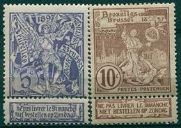 Belgique - 1896 - Yt 71/72 - Exposition De Bruxelles - * Charnière - 1894-1896 Exposiciones