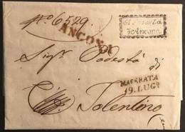 1813 ANCONA PER TOLENTINO - 1. ...-1850 Prefilatelia
