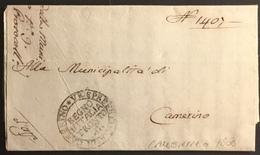 1808 CAMERINO PER CAMERINO - ...-1850 Préphilatélie