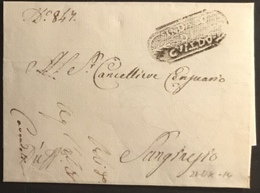 1814 GUALDO PER S.GINESIO - 1. ...-1850 Prefilatelia