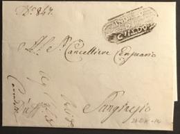1814 GUALDO PER S.GINESIO - ...-1850 Préphilatélie