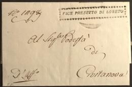 LORETO PER CIVITANOVA - ...-1850 Préphilatélie