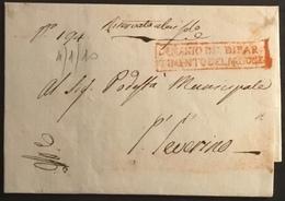 1810 MACERATA PER S. SEVERINO - ...-1850 Préphilatélie