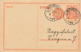 Postreiter Weiterdingen (Amt Engen?) An Maggifabrik Singen Fernkarte 2. Tarifperiode - Storia Postale