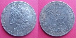 USA (?) Monnaie Satirique Token Jeton 1 Dollar Miss Dead Liberty 1897 - Other