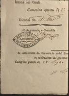 1847 CAMERINO - ...-1850 Préphilatélie