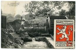 08 : HARAUCOURT - LA FONDERIE GUILLET, LA BOCQUERIE / VIGNETTE - LYON EXPOSITION PHILATELIQUE 1914 - France