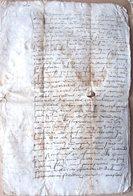 DOCUMENT TRES ANCIEN DEBUT 16 ° ACTE AUTHENTIQUE 1524  CAHIER DE 8 PAGES - Documents Historiques