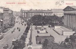 CARTOLINA - UNGHERIA - BUDAPEST - MUZEUM KORùT. - MUSEUMRING - VIAGGIATA PERINTRA LAGO MAGGIORE (ITALIA ) - Ungheria