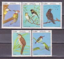 71-979/ CUBA - 1977  BIRDS   VOEGEL Mi 2197/2201 ** - Kuba