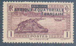First Stamp Of FRENCH EQUATORIAL AFRICA 1936 SG / Scott # 1 Mint - Rare - Postal History - France (former Colonies & Protectorates)