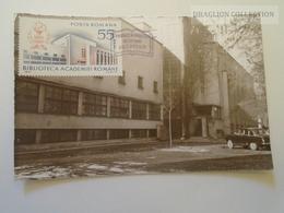 D164099 Romania Maxicard Carte Maximum -  Biblioteca Library  1967 - Roemenië