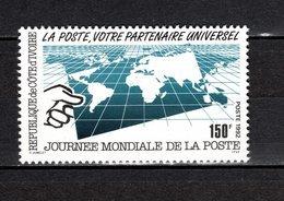 COTE D'IVOIRE   N° 896  NEUF SANS CHARNIERE COTE 1.80€  JOURNEE DE LA POSTE - Ivory Coast (1960-...)