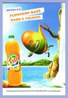 Carte Publicitaire - Boisson - Dicton No 1 - Plongeon Raté - Oasis à Volonté - 100%cart - Reclame