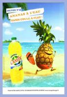 Carte Publicitaire - Boisson - Dicton No 4 - Ananas à L'eau - Oasis Coule à Flot - 100%cart - Reclame