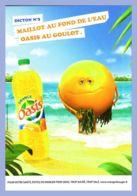 Carte Publicitaire - Boisson - Dicton No 3 - Maillot Au Fond De L'eau - Oasis Au Goulot - 100%cart - Reclame