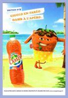 Carte Publicitaire - Boisson - Dicton No 2 - Gigolo En Paréo - Oasis à L'apéro - 100%cart - Reclame