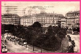Strasbourg - Place De La Gare - Station Place - Tram - Tramway - Hôtel Pfeiffer - GRUBER Et Co - Animée - Edit. BERGERET - Strasbourg