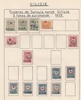 JOLIE COLLECTION CILICIE  AVEC VARIETES DONT SURCHARGES RENVERSEES  A ETUDIER - Cilicie (1919-1921)