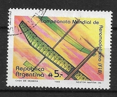 ARGENTINA  1989 World Model Airplane Championships,    Ø - Used Stamps
