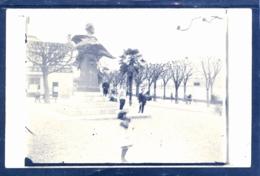 12020 Lugano Cartolina Foto 1925 Animata Con Statua Carlo Battaglini -  Sullo Sfondo Negozio Tailleur A. Patuzzo - TI Tessin